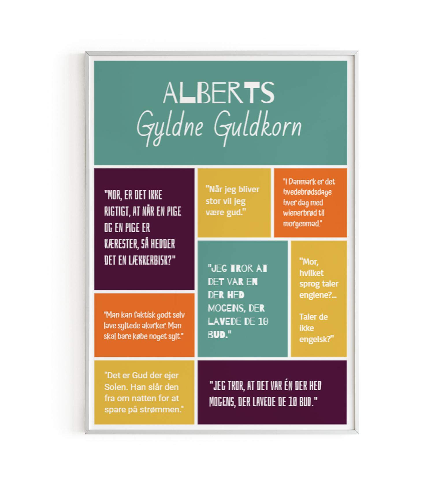 Plakat med børnecitater