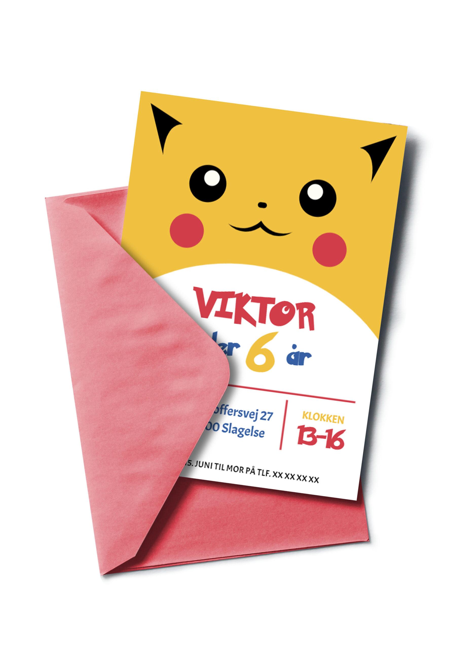 Pokémon invitation - Pikachu