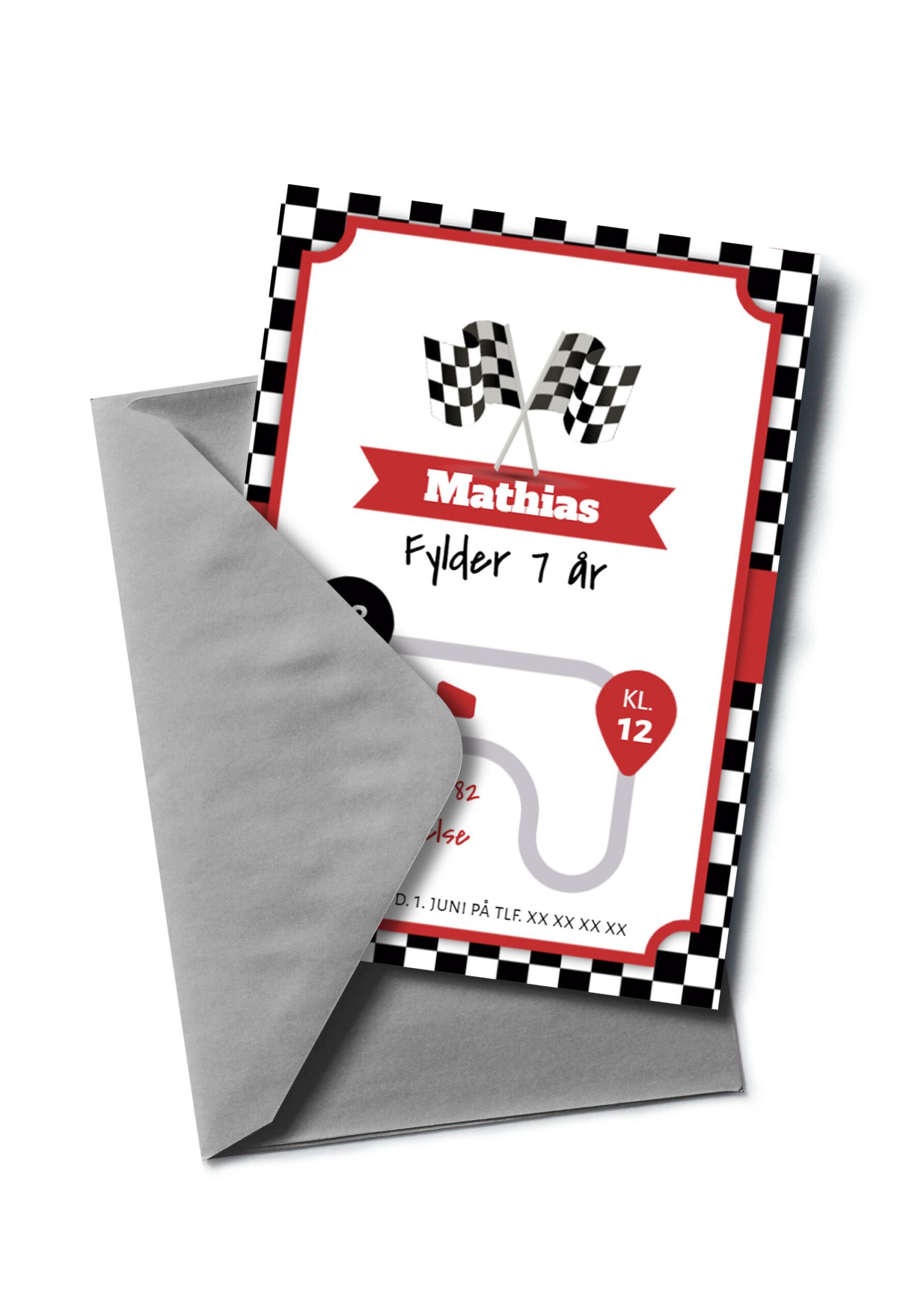 Racerløb invitation