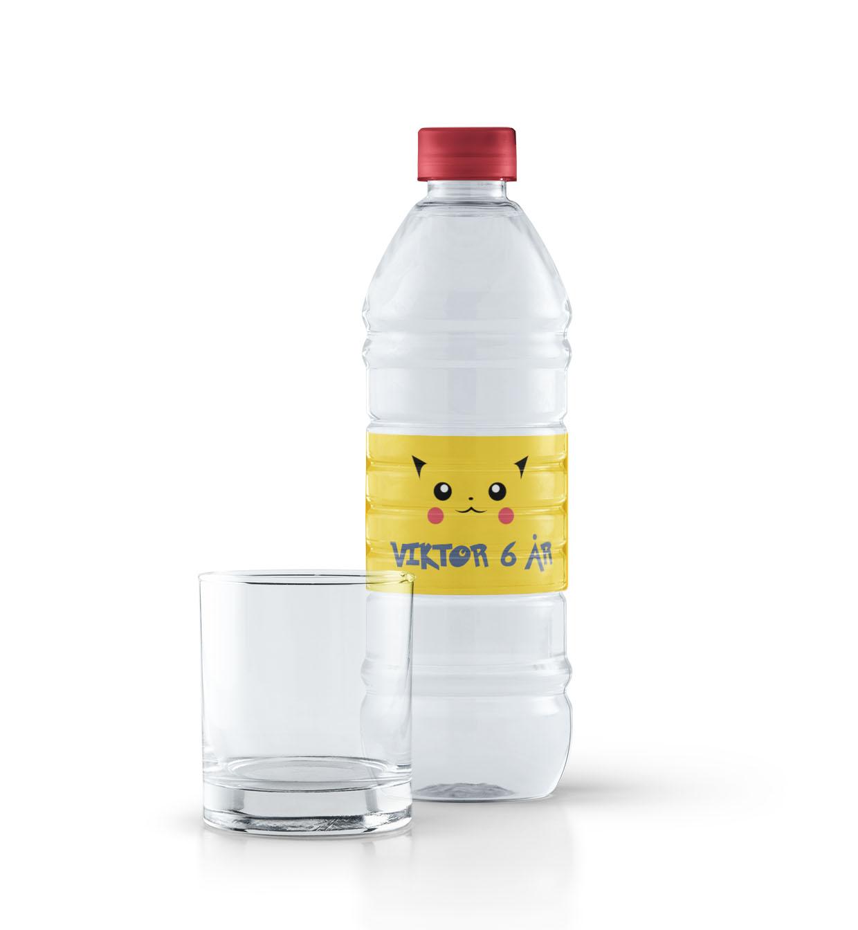 Pokémon flaskeetiketter - Pikachu