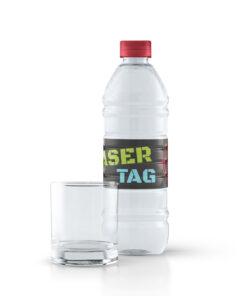 Lasertag flaskeetiketter