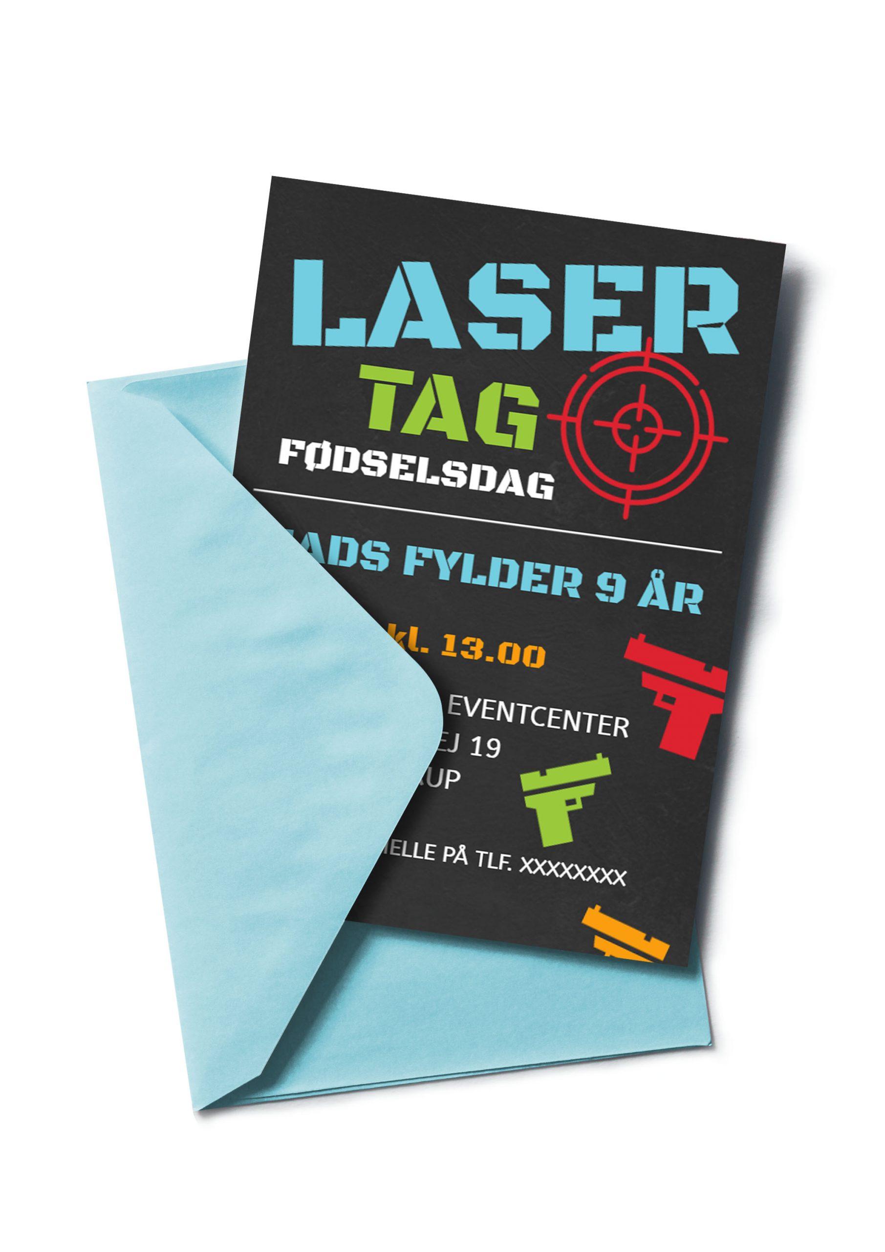 Lasertag invitation